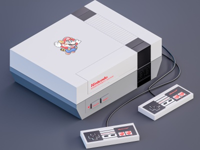 Nintendo Entertainment System_NES 3d art