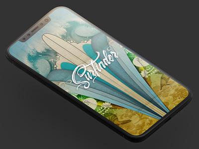 Surfinder photoshop illustration app branding design vector mobile design illustrator