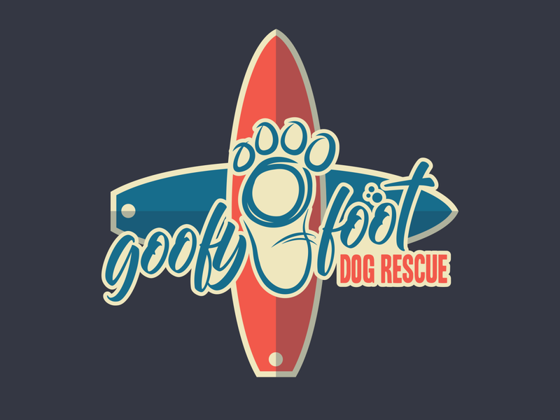 goofyfootCross logo design vector illustration
