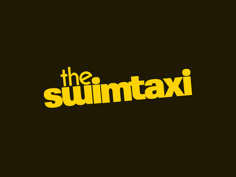 swimtaxi band id typography logo vector design