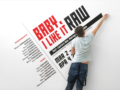 Baby, I Like It Raw / Post-Eastern Bloc Photography & Video wall design mural spatial graphics russian logo graphic design enviromental design exhibition design exhibition constructivism branding