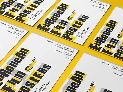 Invites for European Film Poster Exhibit grafika czech logo exhibition graphics exhibition design poster graphic design print invitation