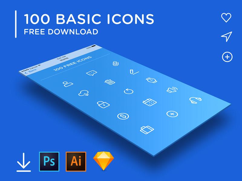 100 BASIC ICONS
