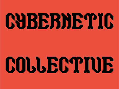 Cybernetic Collective Catalogue type specimen typeface type bold vector design typography