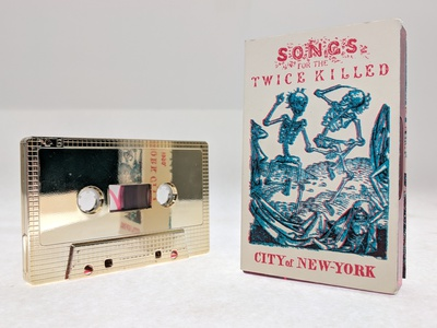 Songs for the Twice Killed mixtape cassete music design music illustration vector design typography