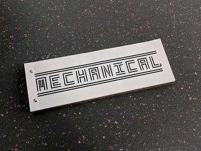 Mechanical stencil type design type specimen typeface type bold vector design typography