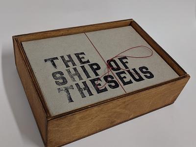 The Ship of Theseus letterpress lettering print publication type specimen typeface type bold vector design typography