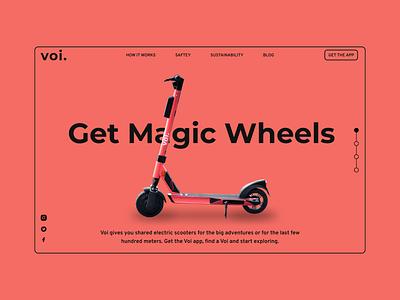 Voi Landing Page Refresh landing page app design typography mobile design mobile web design branding design app