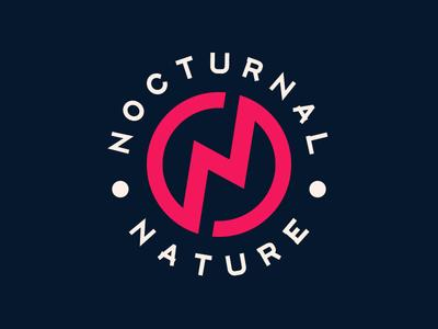 Nocturnal Nature Logo aventura crimson night party club logo club event lightning logo nocturnal nature