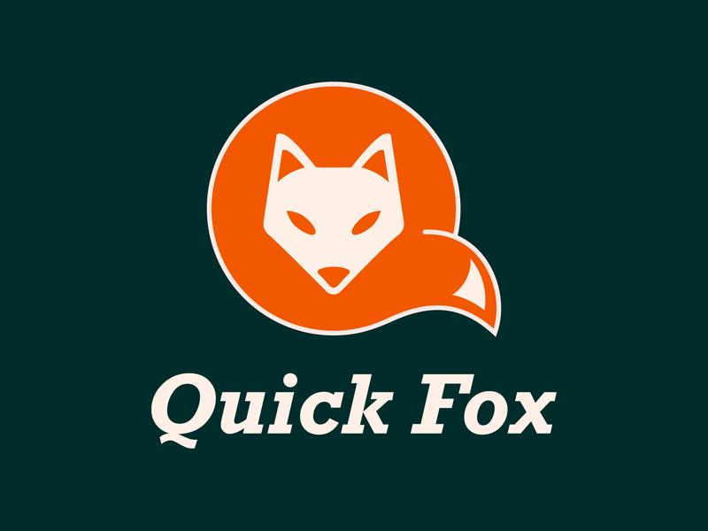 Quick Fox Logo freelance geometric rockwell fox contrast design logo harry ronchetti