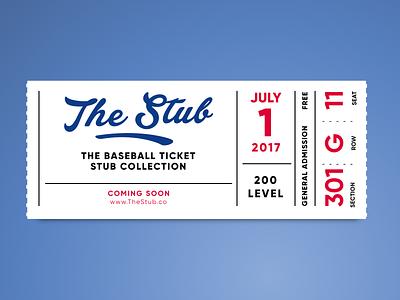 The Stub retro season ticket base ball mlb typography ticket baseball