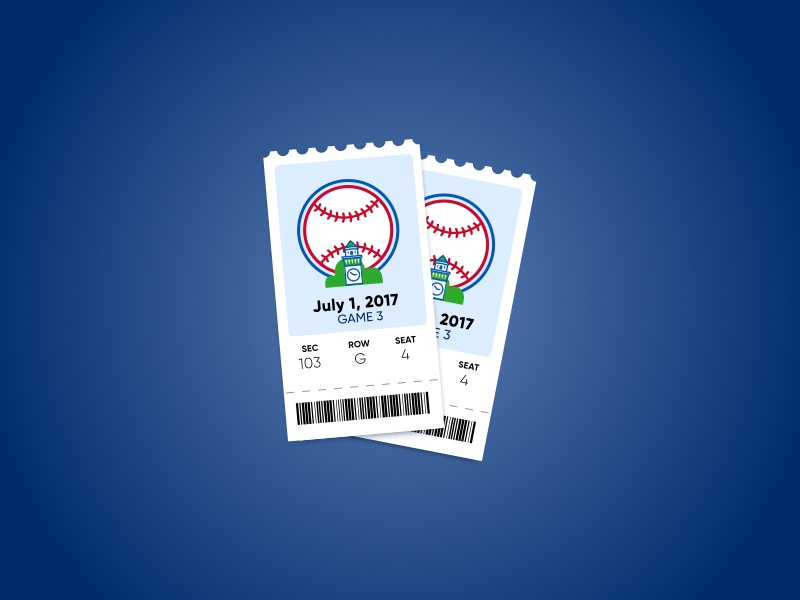 Baseball Tickets tickets ticket icon phillies sports stub retro mlb ticket baseball