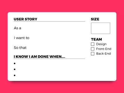 User Story Cards jira print pdf ux project management download free agile cards user story user story card