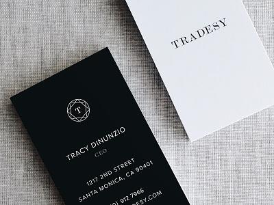 Tradesy business cards fashion tech startup