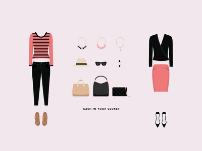 Cash in your closet tradesy clothes outfit necklace fedora wayfarers watch chanel jewelry
