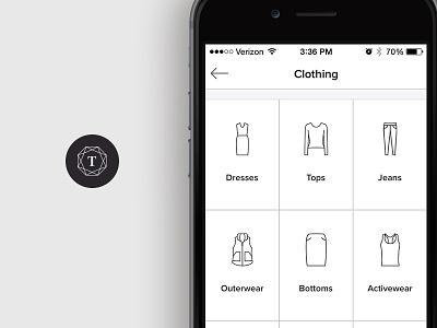 Tradesy App Icons fashion icons app tradesy