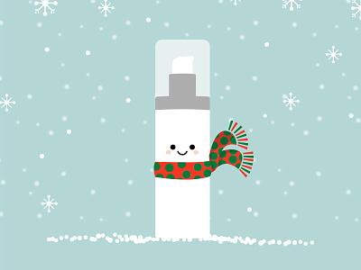 Be Merry kawaii bottle curology christmas winter character