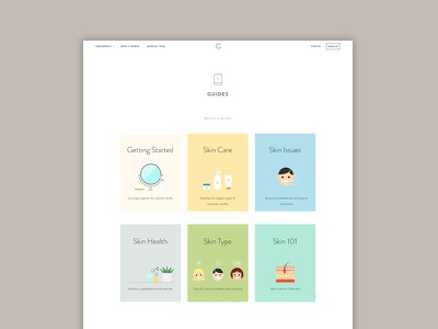 Curology Guides lifestyle icons website ui illustration health skin guide dermatology curology