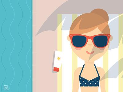 Feels like summer health dermatology skin care beauty bikini sunscreen shade water poolside lounging pool