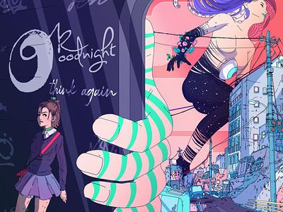 THINK AGAIN   ok goodnight surreal art album art graphic design illustration