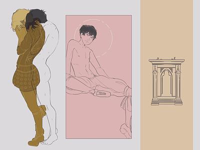 the happy prince   mood studies illustration art design surreal art illustration graphic design