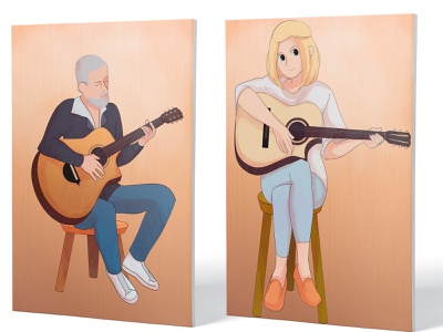 Fingerstyle Festival | Artwork II music design original art graphic design poster art portrait art original character illustration art illustration