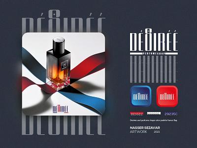 DESIREE illustration graphic design design logo perfume desiree