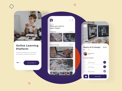 Online Course App apps design e learning app online courses online course app online coaching app course course app ux app app design web ui design ui ux web design ui ux design new design
