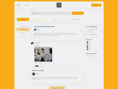 Forum Website dailyui forumdesign forums branding website web ui new web design design web design ui ux design ui ux new design