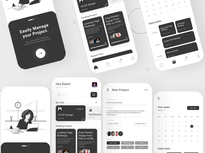 Project Management App Design ui web app design app new web design design web design ui ux design ui ux new design