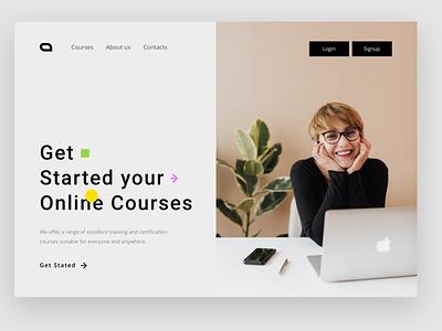 Online Courses website website concept courses web website design branding website web ui new web design design web design ui ux ui ux design new design