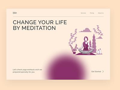 Meditation Web meditation app meditations meditation branding ui app design website web design web design ui ux ui ux design new design
