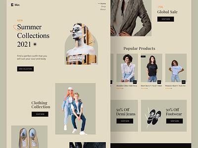 Fashion Website landingpage landing page website design fashion app fashion web fashion design app website ui app design design new web design web design ui ux ui ux design new design
