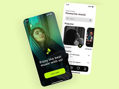 Music App UI music player ui music app design music app illustration branding ui new web design design ui ux web design ui ux design new design