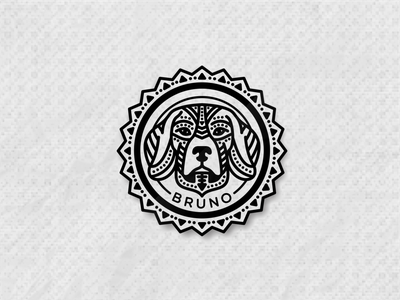 BRUNO / Beagle patterns typography zilap co illustration vector formas geometric logo designs zilap
