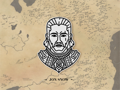 Jon Snow / Game of Trone ui patterns ux zilap estudio vector illustration geometric branding logo designs