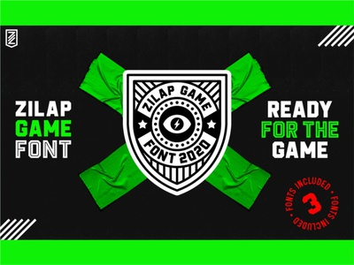 ZILAP GAME FONT zilap estudio zilapgame games illustration logo football zilapfonts zilap co esports sport zilap designs typogaphy font