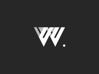 W shapes bw symbol logotype letter minimal logo w
