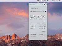 Time-Tracker widget design