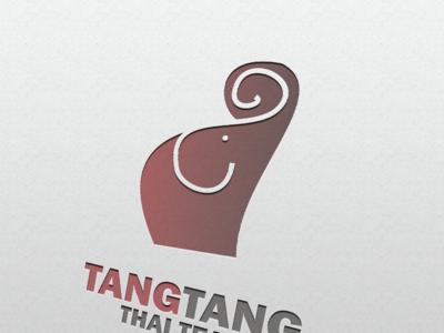 TangTang ThaiTea vector minimal flat branding logo design