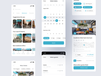 Hotel booking app hotel search data picker filters mobile ios app development ios app booking app hotel booking hotel app