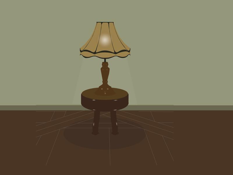 vintage lamp on small table old lamp lamp grey brown vintage design old vintage color adobe illustration