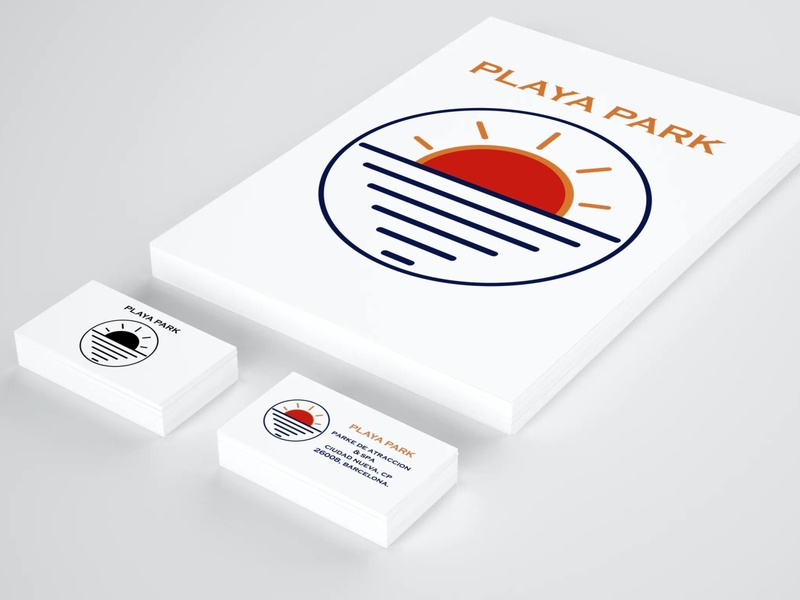 PLAYA PARK LOGO & BUSINESS CARD branding logotype spain park playapark playa business logo design