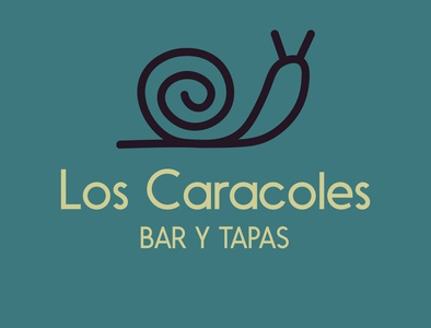 LOS CARACOLES or SNAILS BAR and TAPAS brand black caracoles tapas bar green logo design snail logo