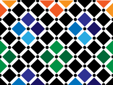 patterns that you can see only in ANDALUCIA - SPAIN andalucia spain orange red blue star pattern design color vector illustrator patterns pattern