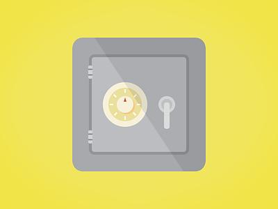 Safe & Simple illustration icon flat safe vault