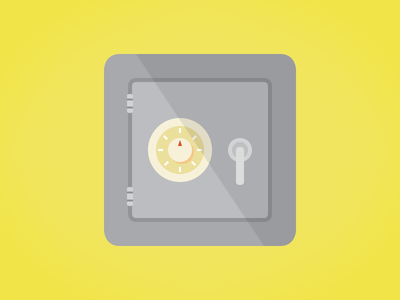 Safe & Simple illustration icon flat safe vault