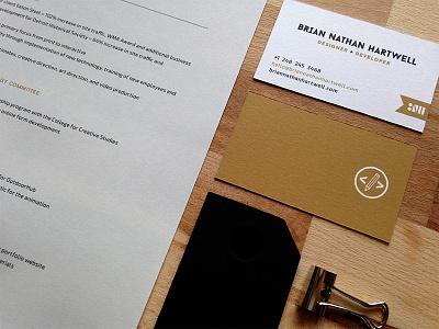 Resume Kit resume identity stationary branding print business card