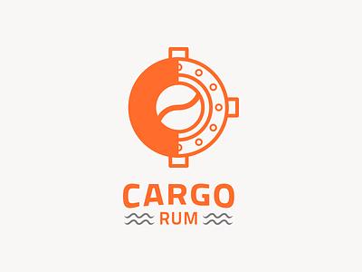 Cargo Rum Concept 1 logo branding identity illustration rum porthole
