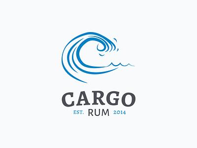 Cargo Rum Concept 2 logo branding identity illustration rum wave sea